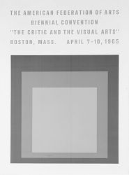 "Poster for American Federation of Arts: ""The Critic And The Visual Arts"""