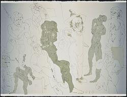 (Cuevas Comedies, Portfolio) (Interior, Triptych) (Central Sheet)