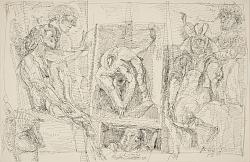 The Art Teacher/Verso: (Two Men in Hats)