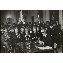LBJ - President Signs Civil Rights Bill