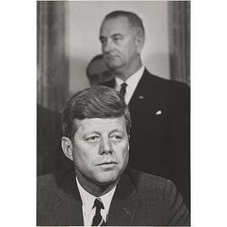 John F. Kennedy and Lyndon B. Johnson