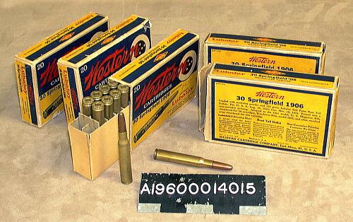 "Cartridges, Cal. .30-'06, Lockheed Sirius ""Tingmissartoq"", Lindbergh, Inert"