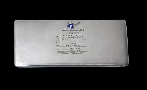 Ticket Holder, Pan American Airways, William J. Eck
