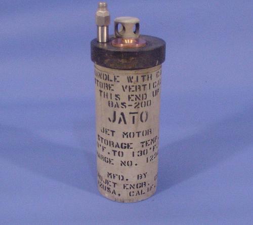 Rocket Motor, Solid Fuel, 8AS-200, JATO (Jet-Assisted-Take-Off) Unit