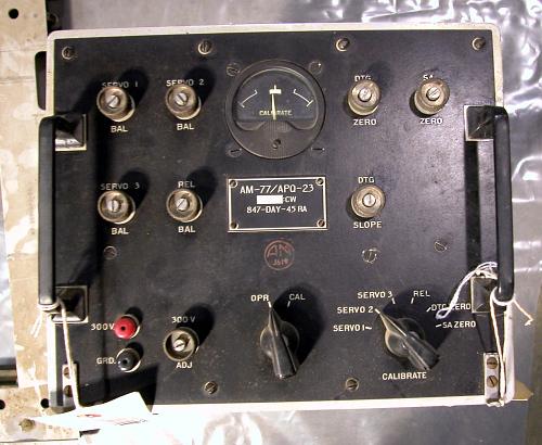 """Radar Unit and mounts, AM-77/APQ-23, B-29 """"Enola Gay"""""""