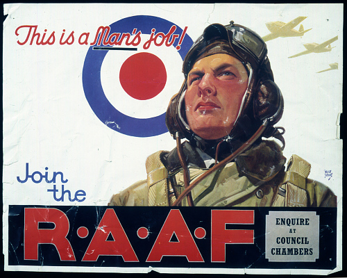 This is a man's job! Join the R.A.A.F.