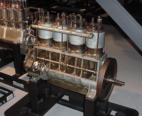 Wright Vertical 4, In-line 4 Engine