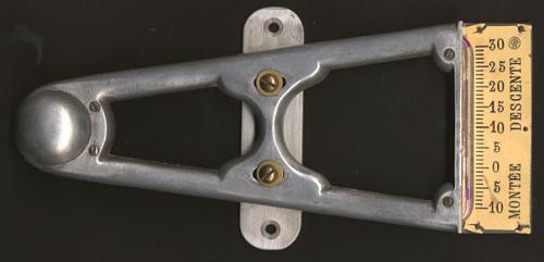 Inclinometer, Bleriot Monoplane