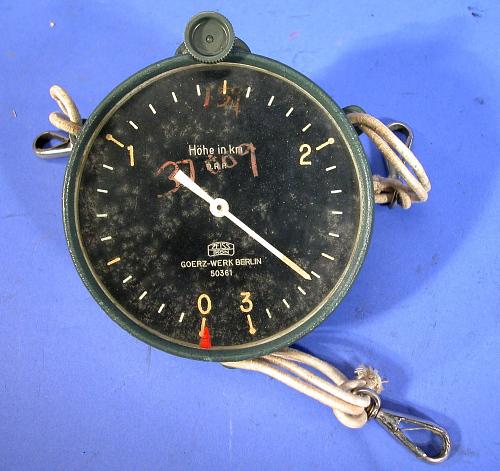 Simple Altimeter, Adjustable, Airship, German