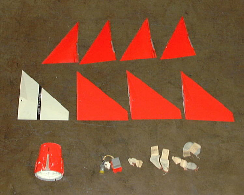 Missile, Sparrow II, Fins and Fin Adapter