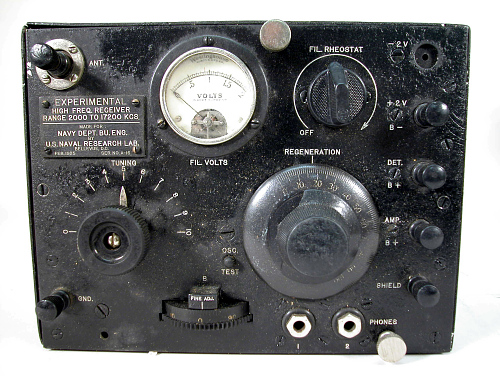Insulation, Receiver, High Frequency Radio, Experimental, Airship, Shenandoah