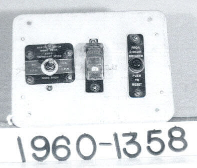 Panel, Propeller Control, Curtiss