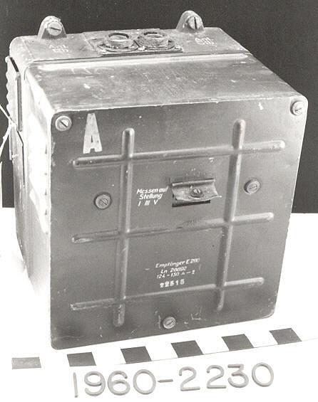 Receiver, Radar, German, FuG 200 component, E-200, LN28892