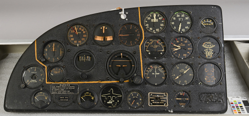 Instrument Panel, Fairchild XBQ-3 Assault Drone (AT-21 Gunner modification)