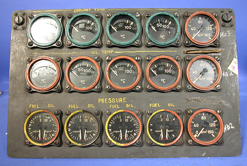 Instrument Panel, Heinkel He 177, Right Console, Aft