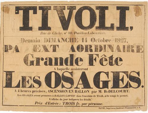 Tivoli PA Ext Aordinaire Grade Fete A laquelle assisteront Les Osages