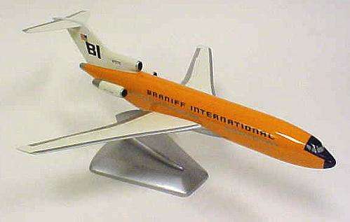 Model, Static, Boeing 727-100QC, Braniff International Airways