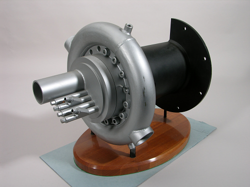 Model, Cutaway, Injector, Rocket Engine, M-1