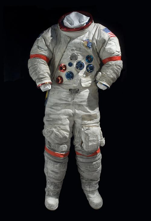Pressure Suit, A7-LB, Cernan, Apollo 17, Flown