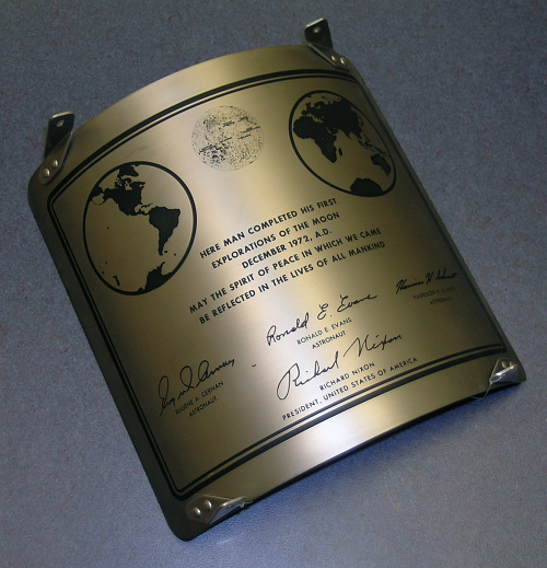 Plaque, Lunar Module, Apollo 17