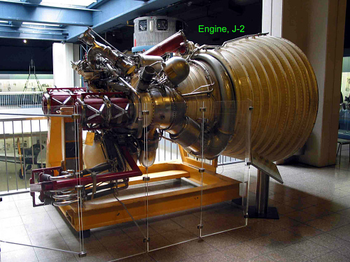 Rocket Engine, Liquid Fuel, J-2, Mockup