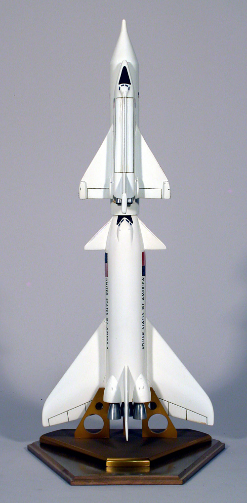 Model, Space Shuttle, North American Rockwell 2-Stage Concept, 1:200