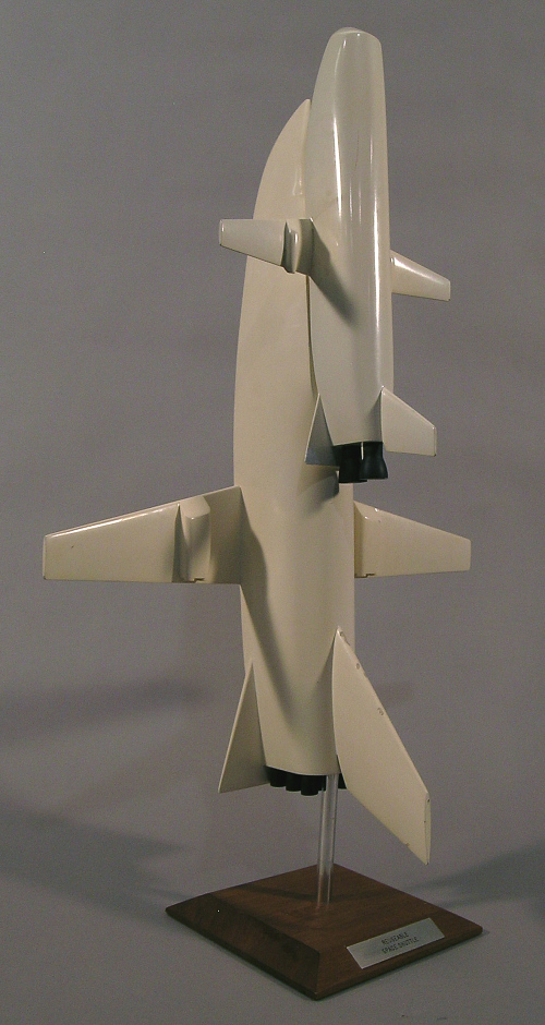 Model, Space Shuttle, North American Rockwell Fully Reusable Concept, 1:100