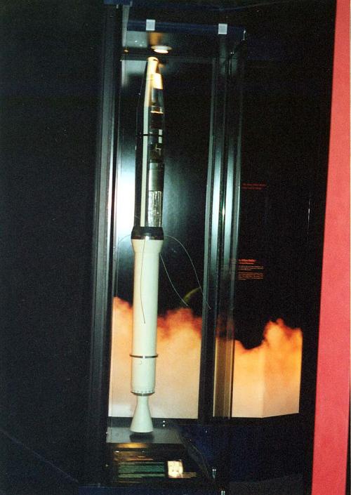 Satellite, Beacon 1, Cutaway, Mock-up