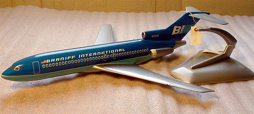 Model, Static, Boeing 727-100, Braniff International Airways
