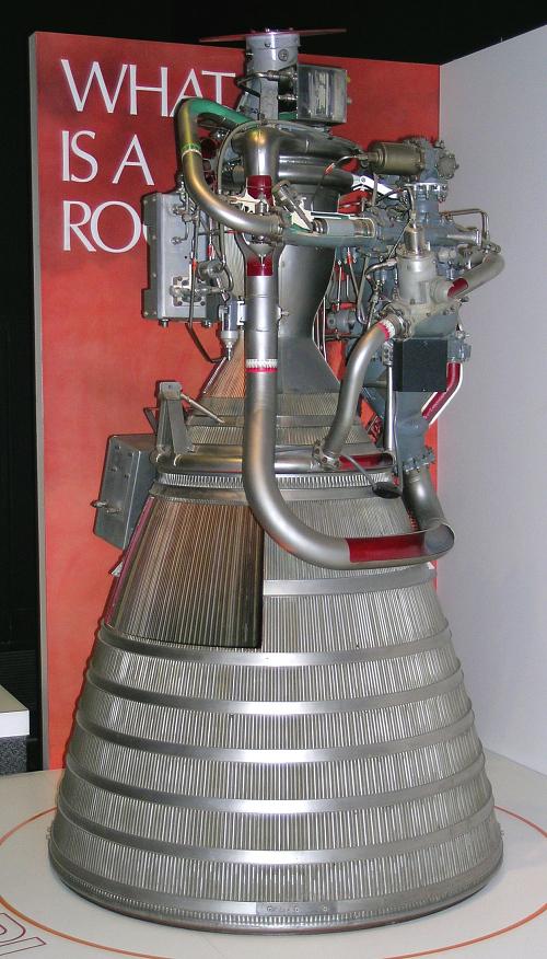 Rocket Engine, Liquid Fuel, Cutaway, RL-10