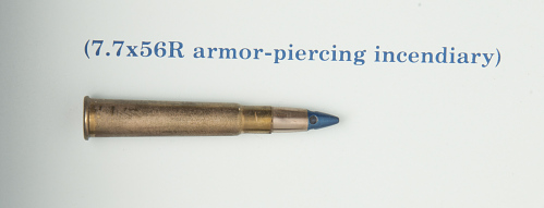 Cartridge, Armor Piercing Incendiary, 7.7x56R, Italian