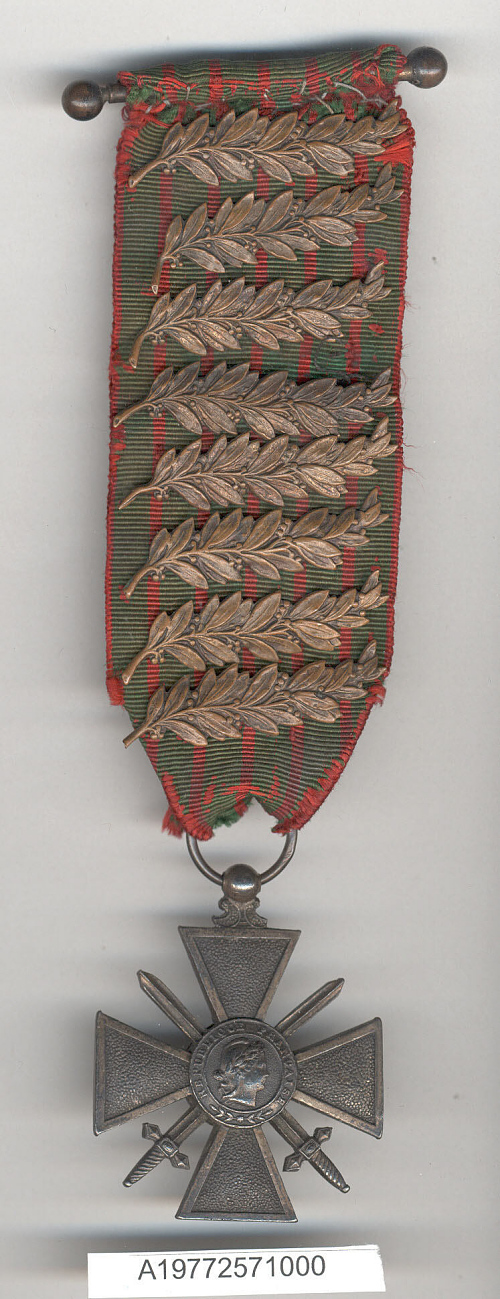 Medal, Croix de Guerre (War Cross) 1914-1918, Edwin Parsons