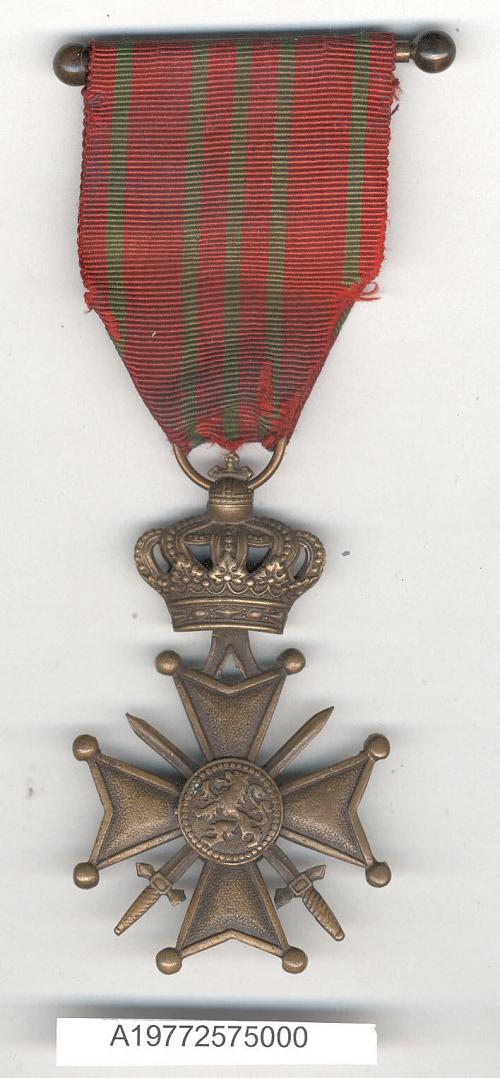 Medal, Croix de Guerre (War Cross), Belgian, Edwin Parsons