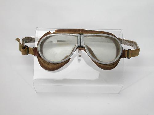 Goggles Flying, Civilian, Charles A. Lindbergh