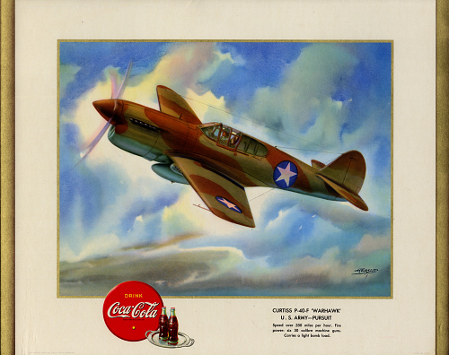 """Curtiss P-40-F """"Warhawk"""" U.S. Army - Pursuit"""