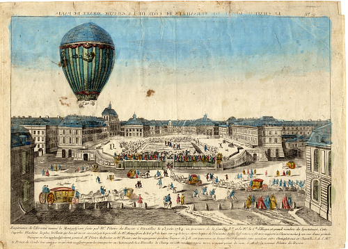 Montgolfier's Balloon in the Presence of the King and Queen