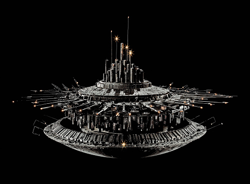 "Model, Spacecraft, Mother Ship, Movie, ""Close Encounters Of The Third Kind"""