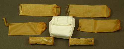 Pouch, Storage with Roll-on Urine Cuffs, Armstrong, Apollo 11