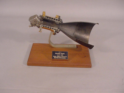 Rocket Engine, Liquid Fuel, Radiamic; also Designated C-1; Cutaway