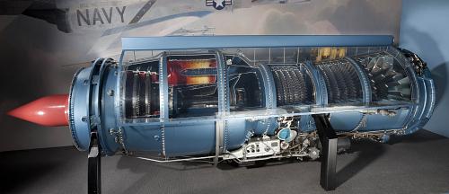 Pratt & Whitney J57-P-29W Turbojet Engine, Cutaway