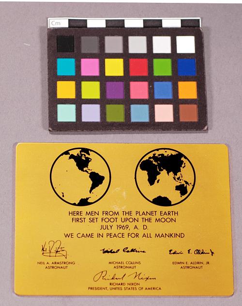 Plaque, Apollo 11, Neil Armstrong