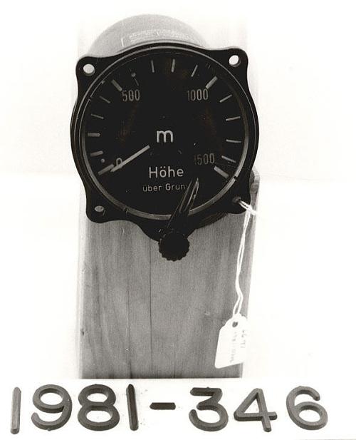 Radio Altimeter, German, FuG 101, 1500-meter type