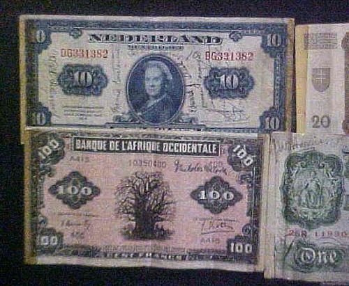 """Short Snorter"", Banknotes, World War II"