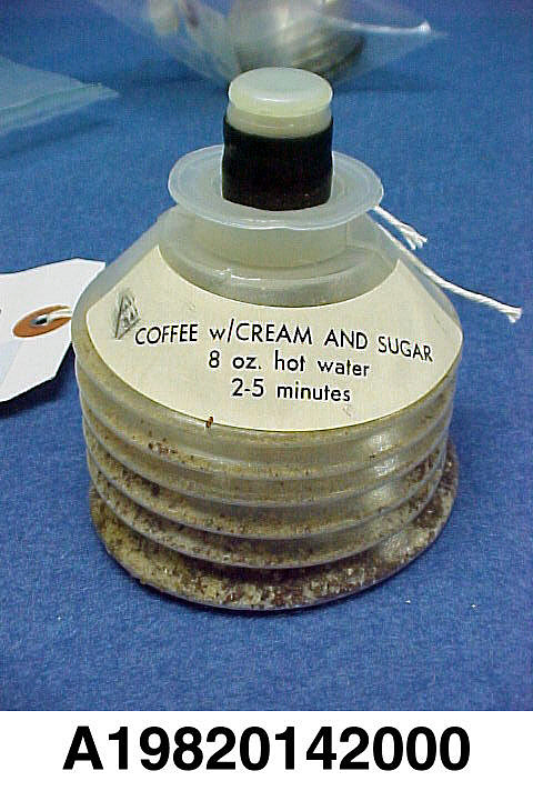 Space Food, Coffee with Cream and Sugar, Shuttle, STS-1