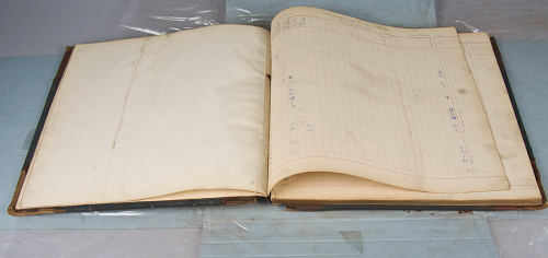 Smithsonian Ledger Book, Langley