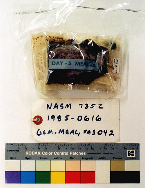 Space Food, Meal Package, Day 5, Meal B, Gemini VII (PLT)