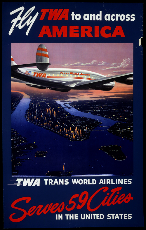 Fly TWA To and Across America Serves 59 Cities