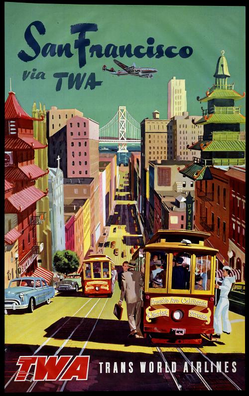 San Francisco via TWA