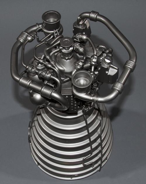 Model, Rocket Engine, Liquid Fuel, Space Shuttle Main (SSME), 1:12 Scale