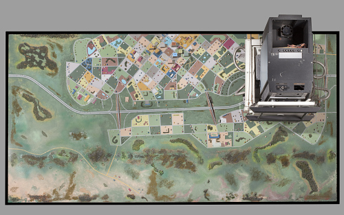 Terrain Board, Segment, Lubbock, Texas, Flight Simulator